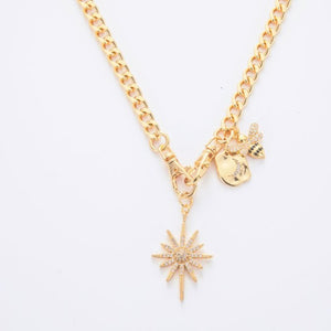 Athena  Necklace - GOLD AND GUNMETAL