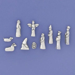 10 Piece Nativity Set with Velvet Pouch