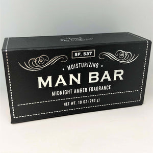 San Francisco Soap - Men's Moisturizing Bath Bar - Midnight Amber