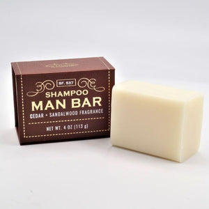 Cleanse hair with the rich, woodsy scents of cedar and sandalwood with a convenient solid shampoo bar.