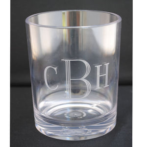 ACRYLIC DOUBLE OLD FASHIONED GLASS - SINGLE -