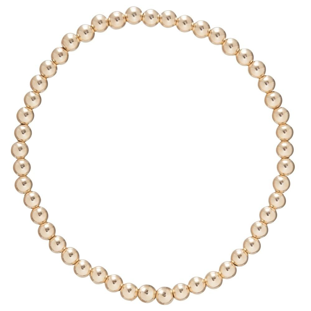 E Newton Classic Gold 5mm Bead Bracelet