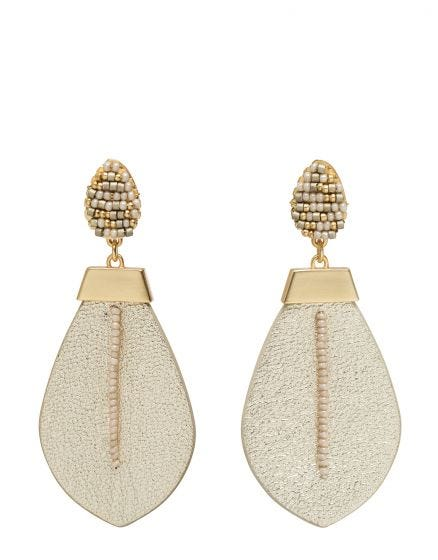 Spartina - BEADED LEATHER EARRINGS