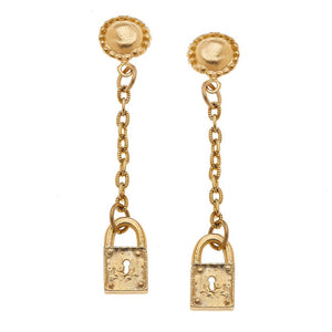 Tiny Lock Dangle Earrings