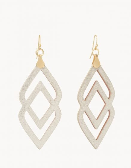 Spartina - Deco Drama Earrings - White Leather