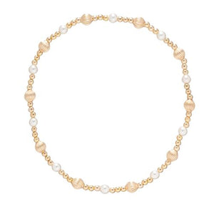 E Newton Dignity Sincerity Gold Bead and Pearl Bracelet