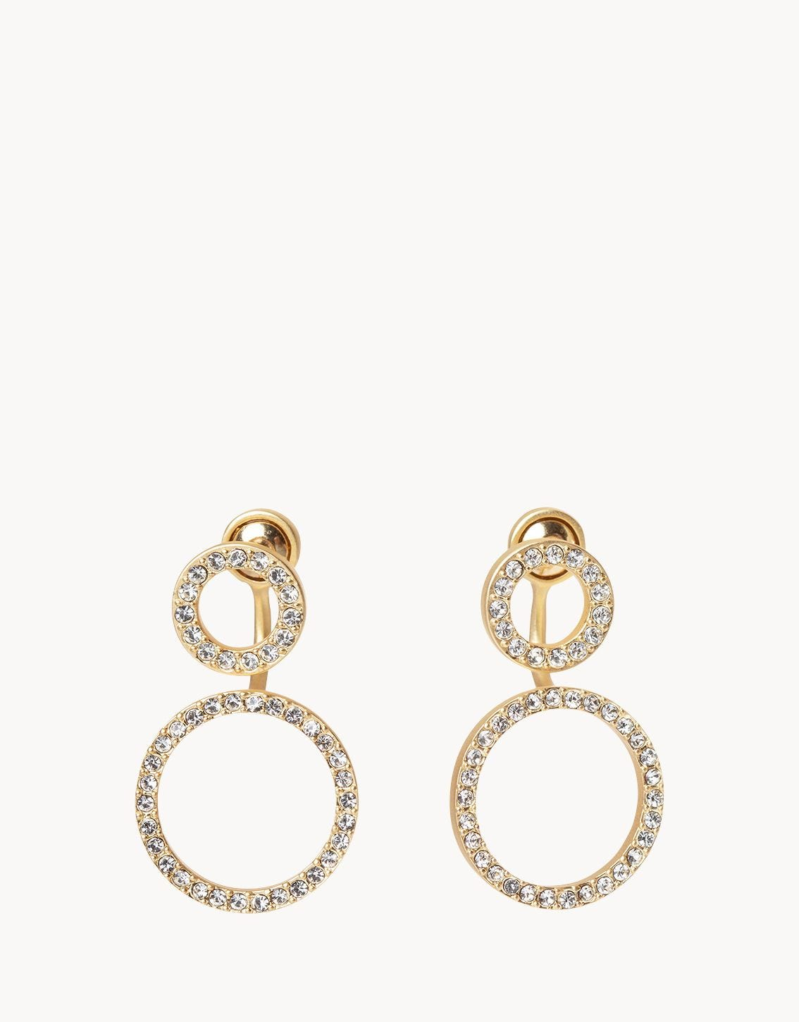 Spartina - DOUBLE RING CRYSTAL JACKET EARRINGS