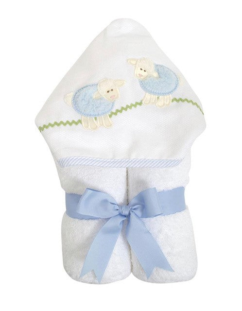 3 Martha's Sheep Everykid Hooded Towel