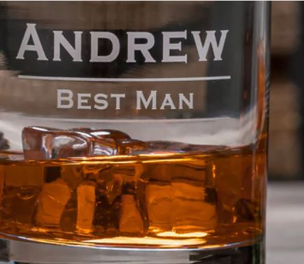 Groomsmen/ Wedding Party 14oz. Classic Personalized Whiskey Glass