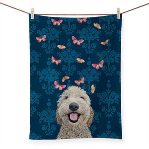 Happy Dog Tea Towel
