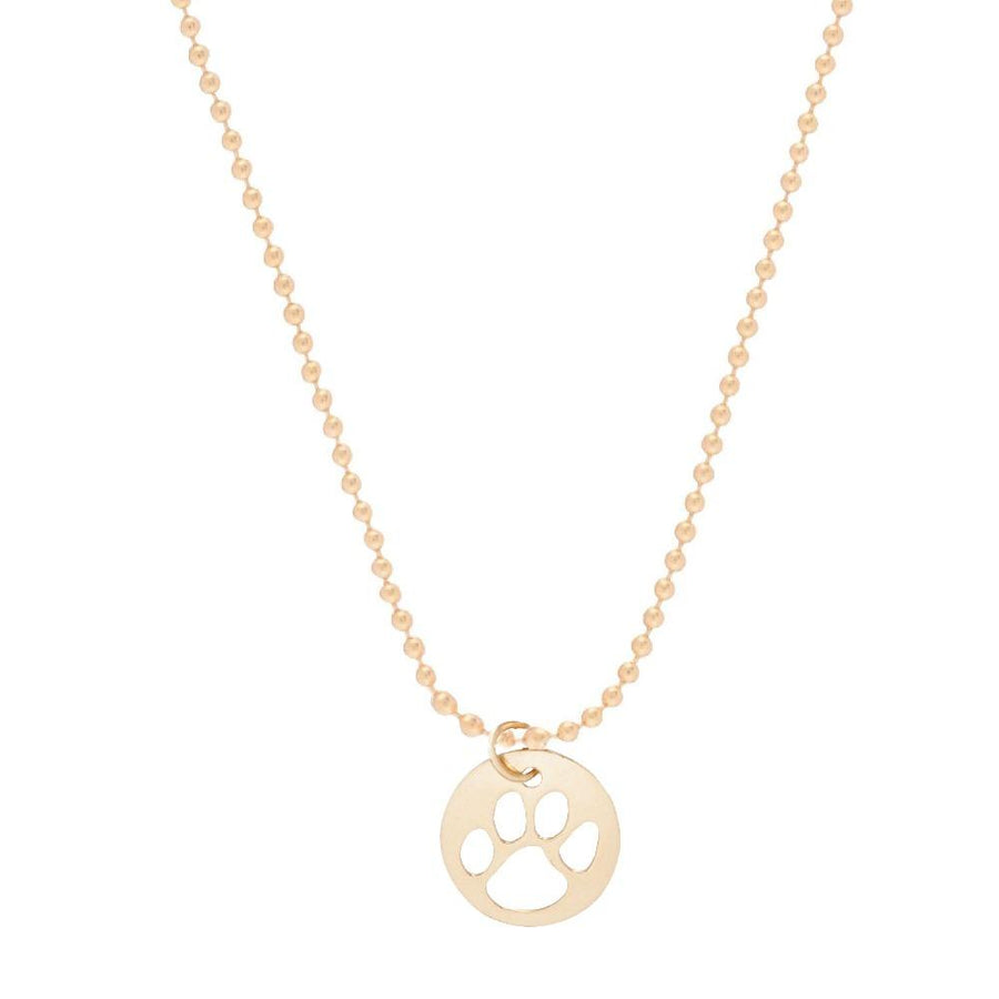 "E Newton 16"" Gold Necklace - Paw Print"