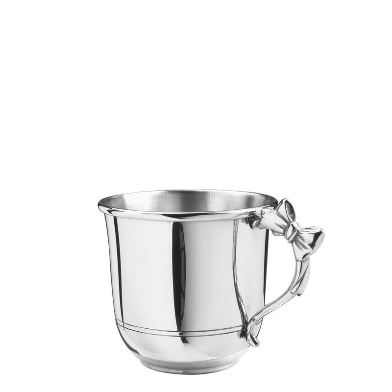 PEWTER BOW HANDLED BABY CUP