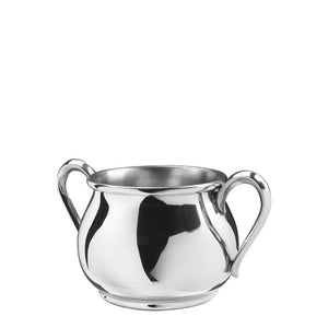 PEWTER BULDGED DOUBLE HANDLE BABY CUP