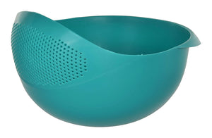 Strainer Colander | Fruit Basket | Pasta Strainer 1 x Small (SEA Green)