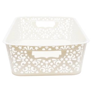 Turkish Shelf Storage Basket, Set of 2, Medium [36 x 21 x 10 CM - ~7.0 L ]