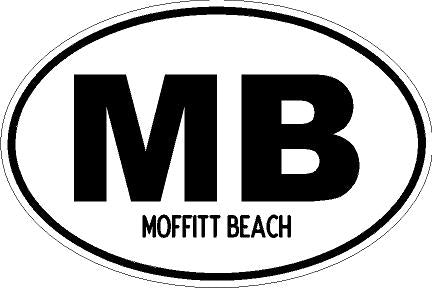 Moffitt Beach Sticker
