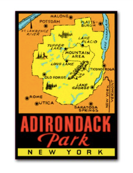 Adirondack Park Map Decal
