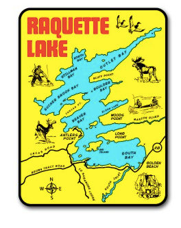 Raquette Lake Map Decal