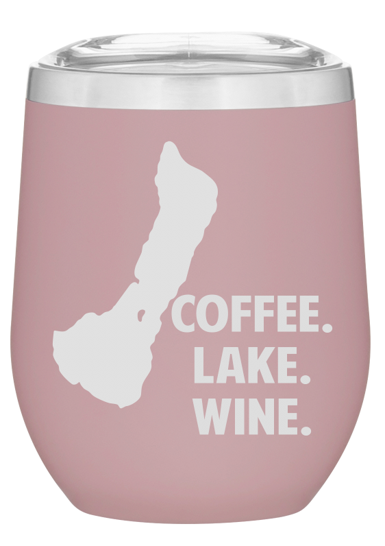 Lake Pleasant Coffee / Wine Tumbler PINK