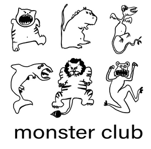 T-shirt gris Femme Monster Club