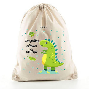 sac a dos enfant personnalise dinosaure