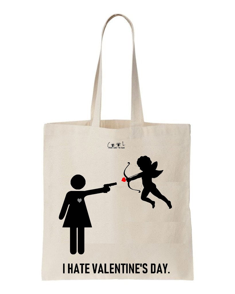 tote bag I hate Valentine's Day