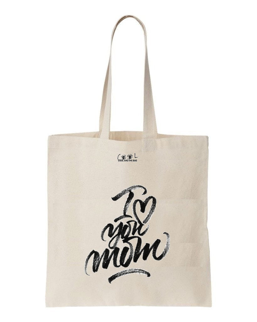 tote bag I love you Mom