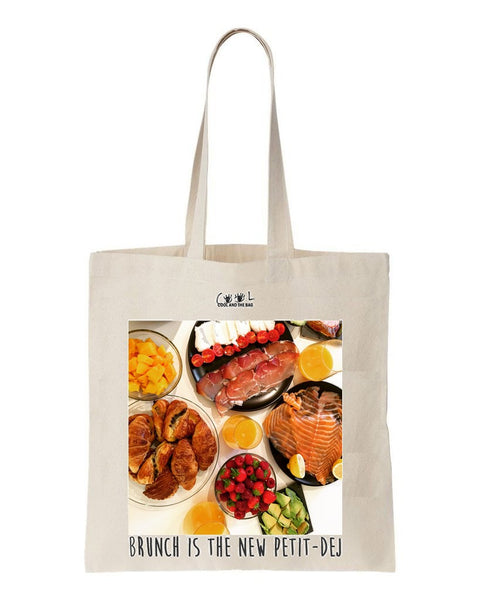 tote bag Brunch is the New Petit-Dej