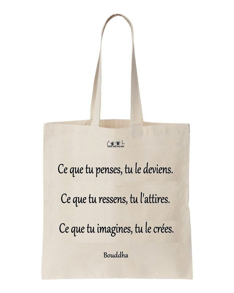 tote bag citation bouddha