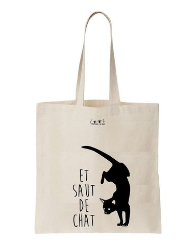 Tote bag saut de chat