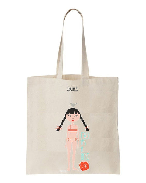 tote bag free as a bird