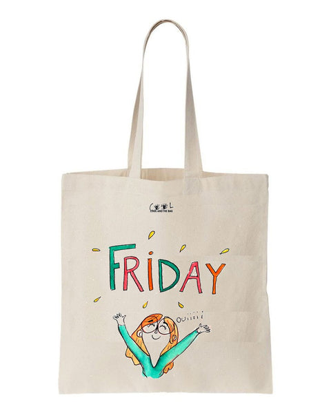 tote bag thanks it's friday
