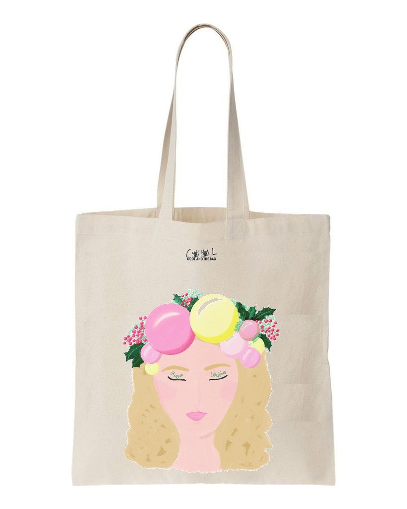 tote bag Hippie Christmas