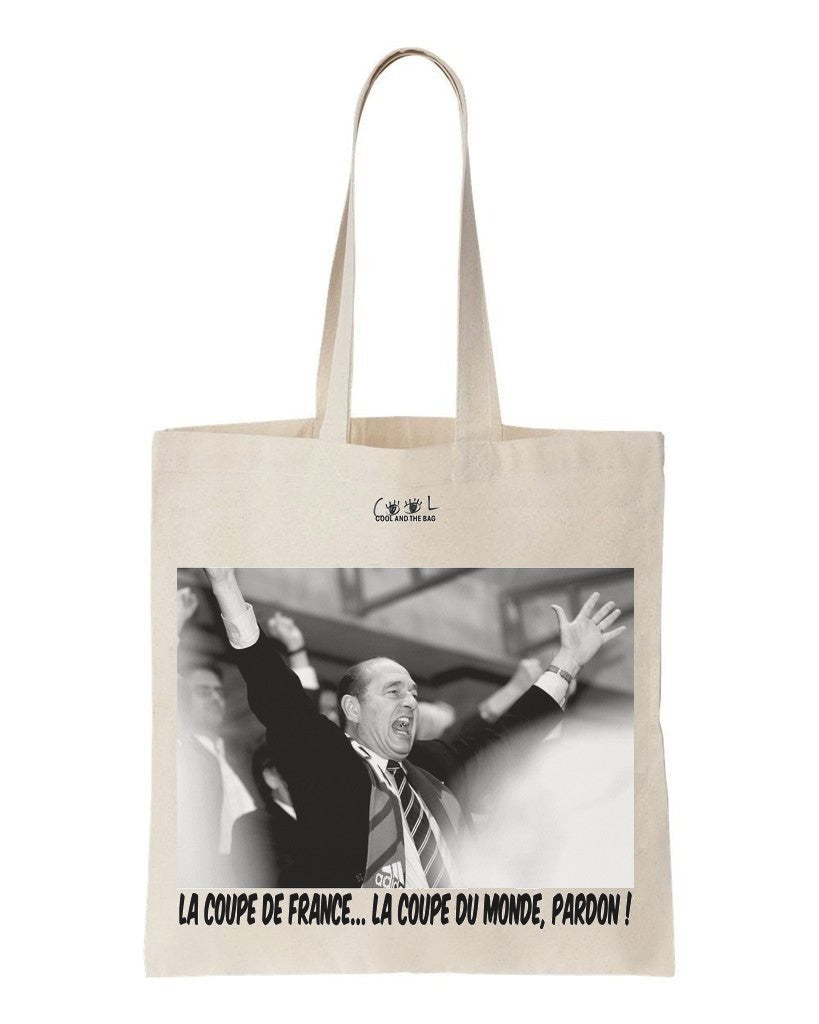 tote bag jacques chirac coupe du monde 98