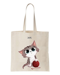 tote bag kitty cat