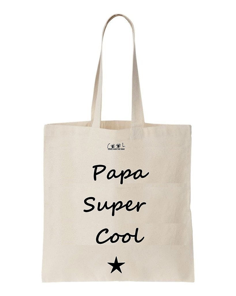 tote bag papa super cool