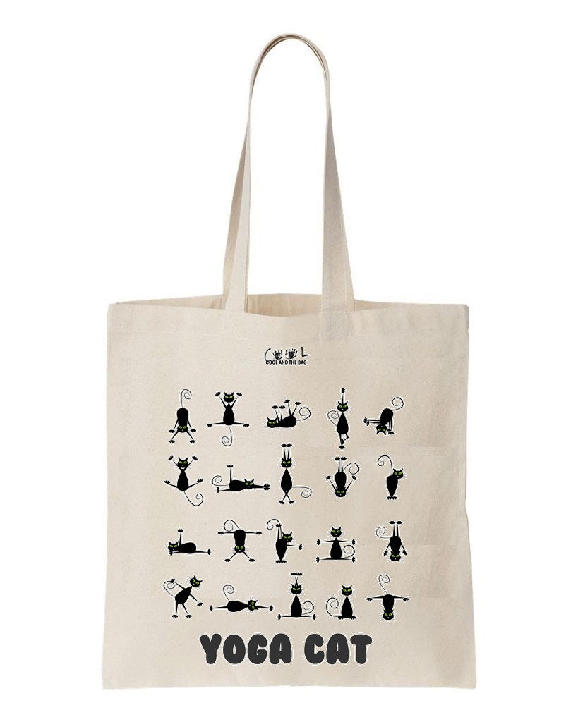 tote bag Yoga cat