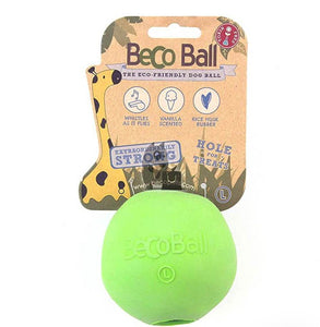 Natural Rubber Ball - whistling, treat fillable