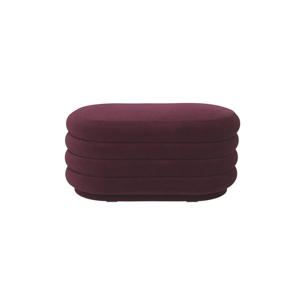 Ferm Living Puff - Oval - Bordeaux - Medium-Designfund.dk
