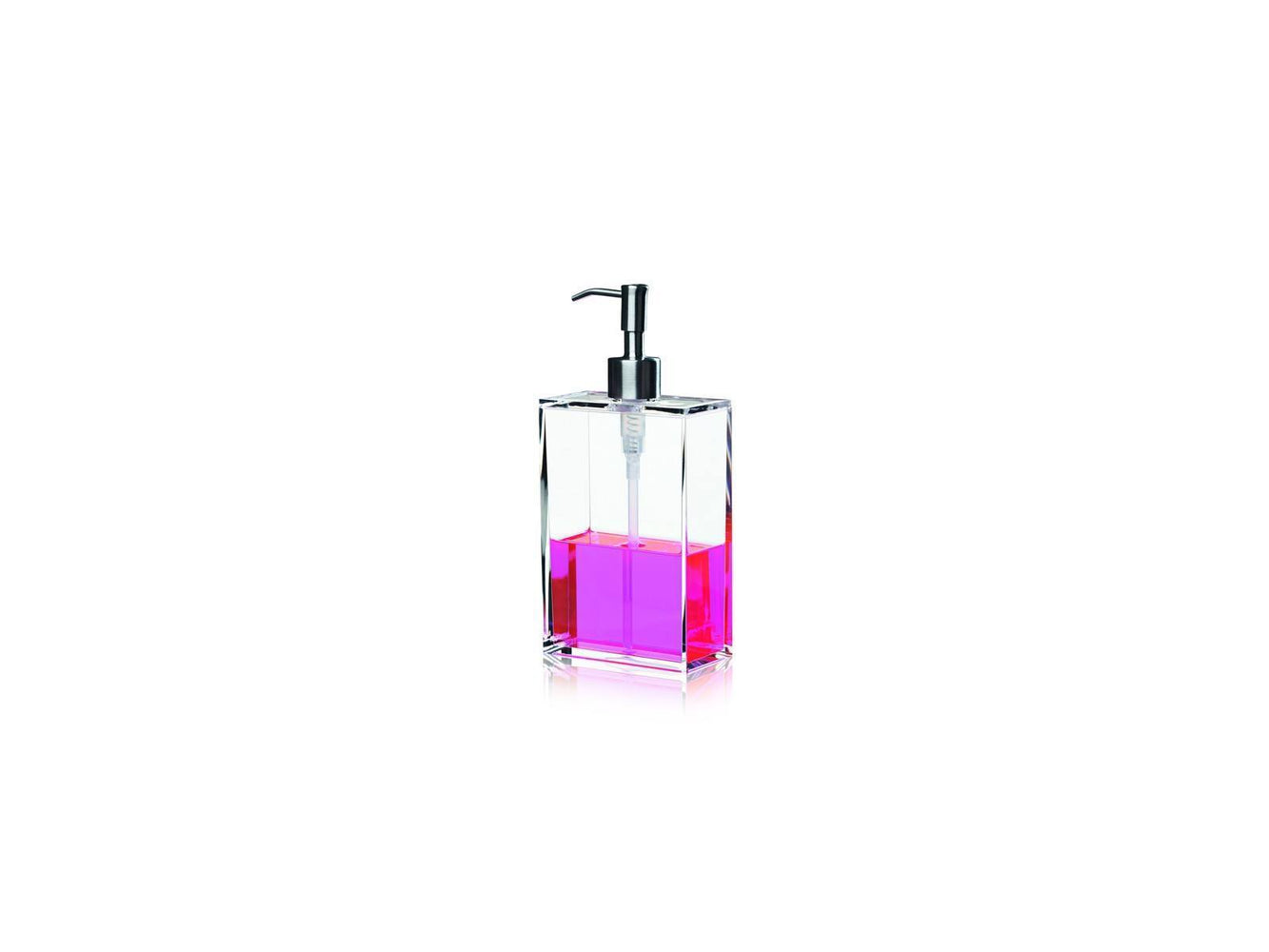 clear soap dispenser fra nomess large 10x5x21 cm