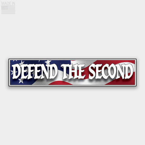 DEFEND THE SECOND Bumper Sticker