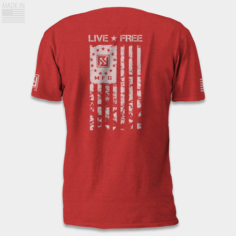 LIVE FREE Betsy Ross Heather T-Shirt