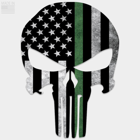 Thin Green Line Punisher Decal
