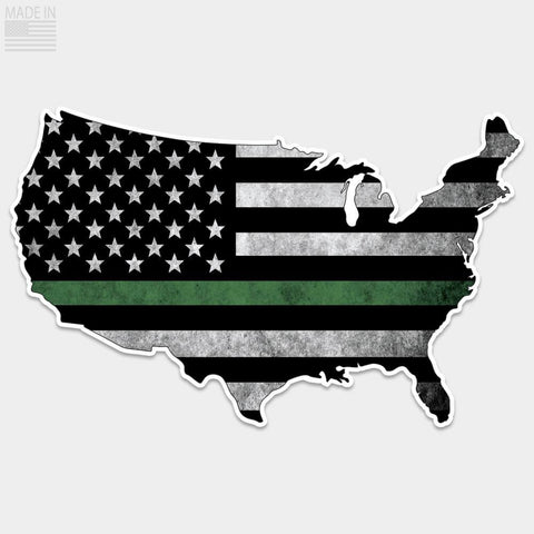 Thin Green Line USA Flag Sticker