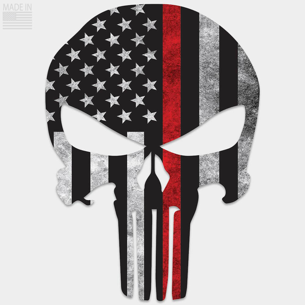 Thin Red Line Punisher Decal