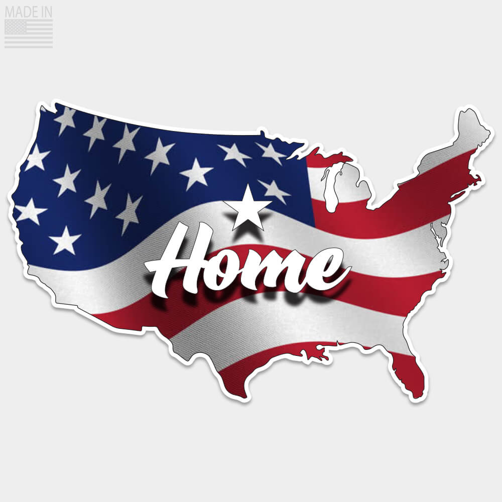 USA Home American Flag Sticker