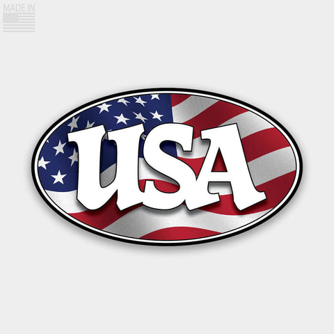 Oval USA Flag Sticker