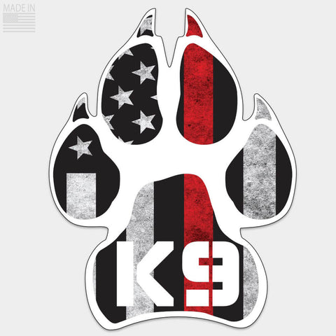 Thin Red Line K-9 Sticker
