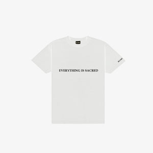 "SILKSCREENED ""EVERYTHING IS SACRED""T-SHIRT"