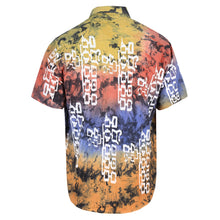 Load image into Gallery viewer, HAND DYED MULTICOLOUR COTTON SHIRT WITH SILKSCREEN PRINT